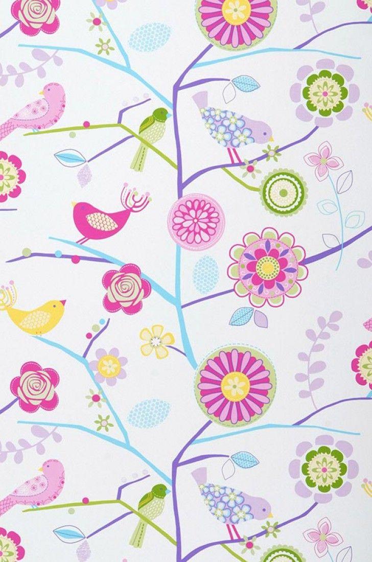 Milena papel pintado dormitorio de ni os papeles - Papeles pintados para bebes ...