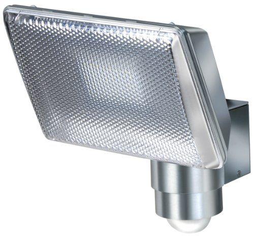 Brennenstuhl Power-LED-Leuchte L2705 PIR IP44 mit Infrarot-Bewegungsmelder In- und Outdoor silber, 1173350