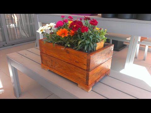 (350) Cómo hacer un macetero con palets y evitar que con el riego se pudra la madera   Re-Crea Palets #11 - YouTube
