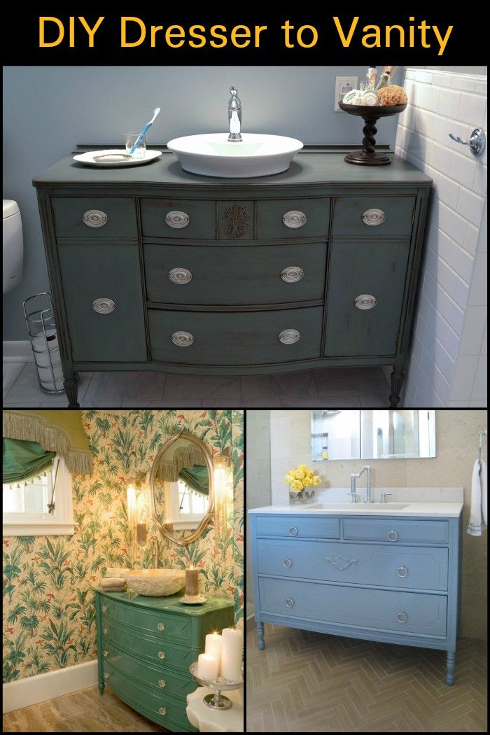 Here Are Instructions On How To Upcycle An Old Dresser Into A