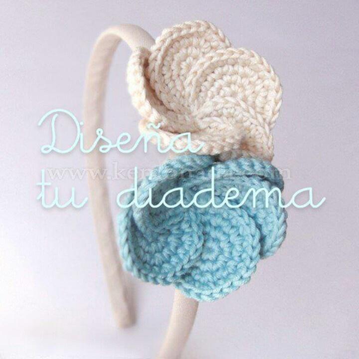 531 best arte en diademas y broches images on - Diademas a crochet ...