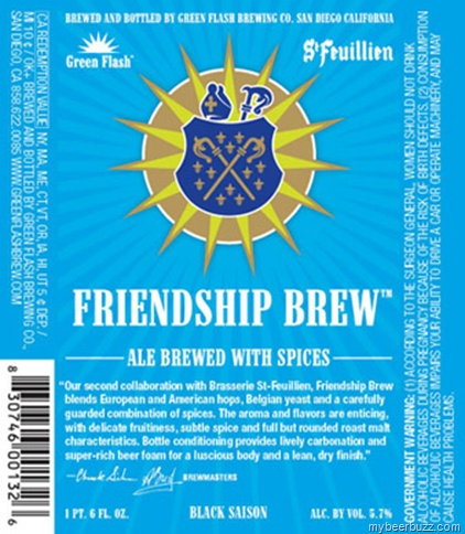 Green Flash / St. Feuillien Friendship Brew Black Saison