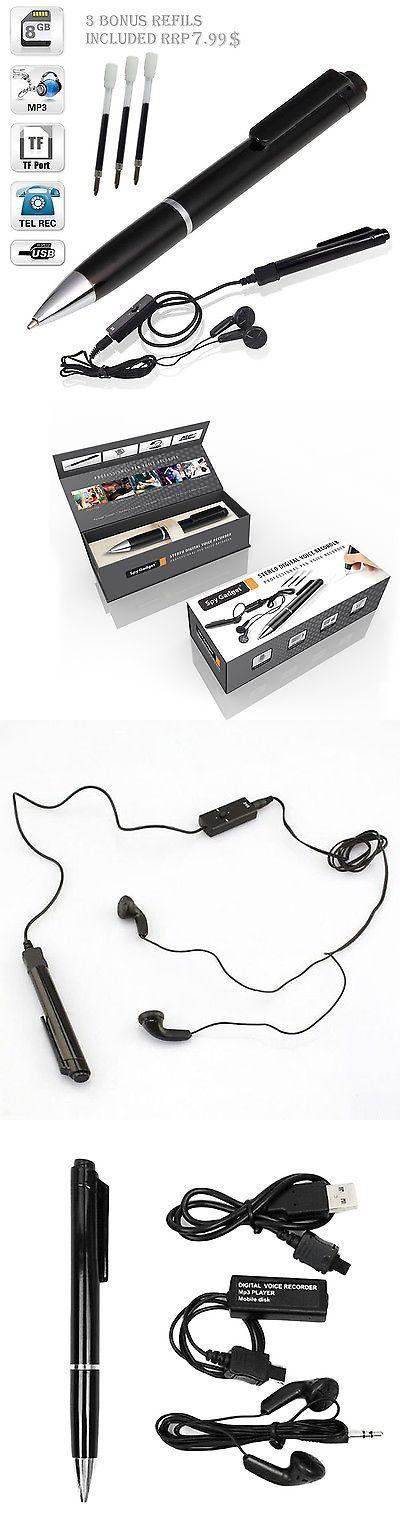 Voice Recorders Dictaphones: 8Gb Digital Hidden Spy Voice Recorder Pen Usb 650 Hour Dictaphone Mp3 Player New -> BUY IT NOW ONLY: $43.95 on eBay!