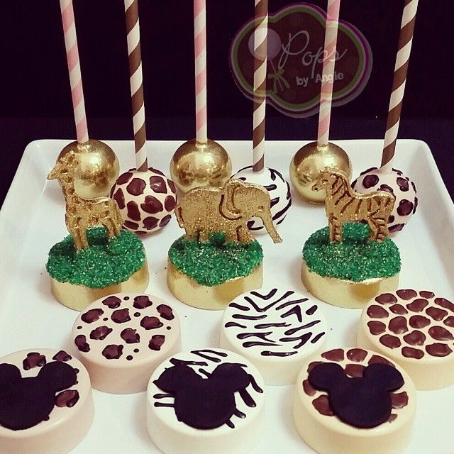 2 Quot O Quot Pops By Angie Safari Cake Pops Amp Oreos In 2019
