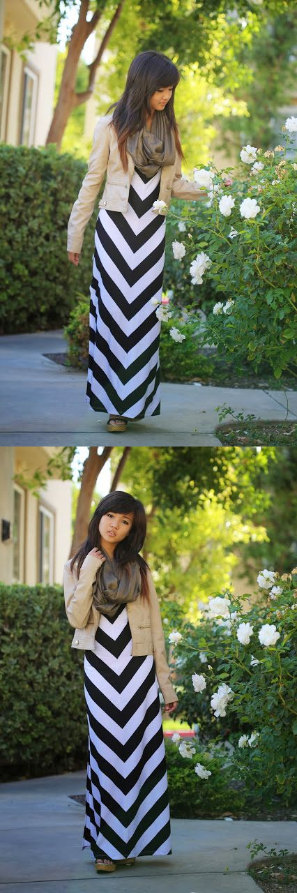 Maxis are just as fab this season as they were in summer! We love how blogger Elaine of romanticfawn.blogspot.com paired her maxi dress with a jacket & scarf for a fresh fall look!