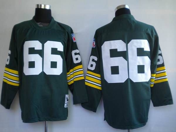 Mitchell & Ness Packers #66 Ray Nitschke Green Stitched Throwback NFL Jersey  $19.50