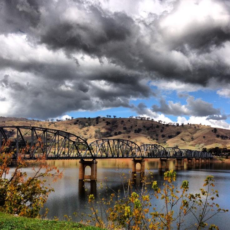 Old country bridge. Albury, Australia Looks like Bethanga Bridge spanning N.S.W to Victoria. Hume Weir.