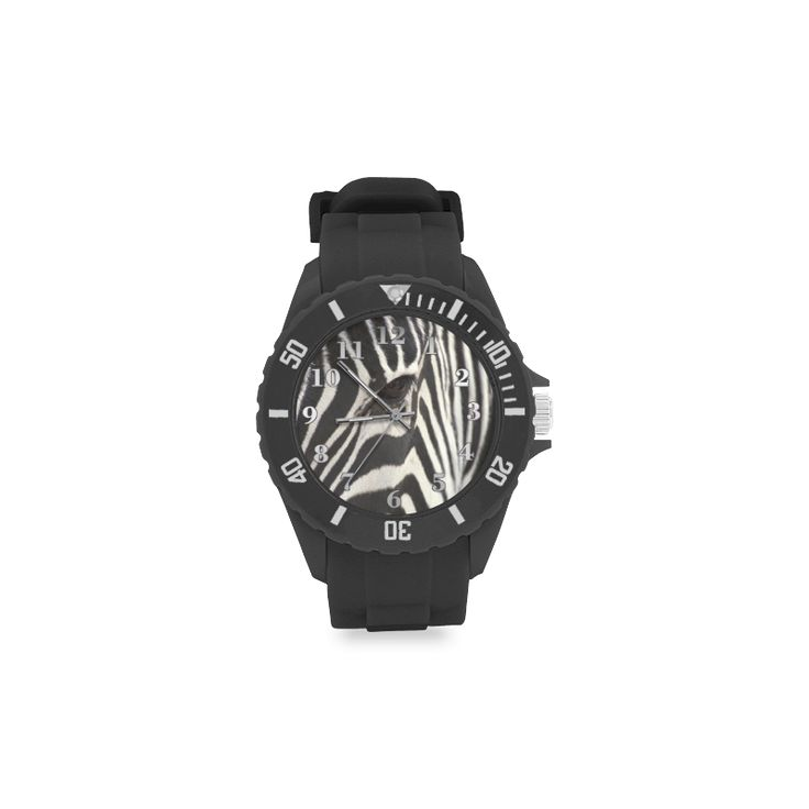 Zebra Sport Rubber Strap Watch. FREE Shipping. #artsadd #watches #zebra