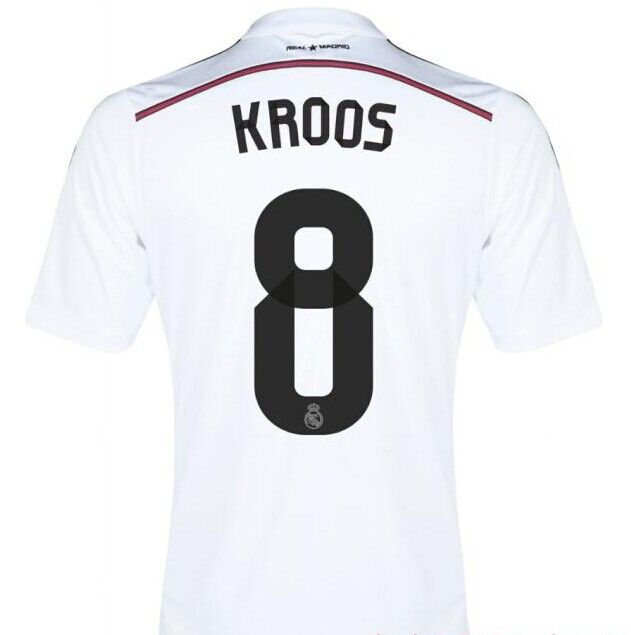 Maillot Real de Madrid 2014 2015 Kroos 8-Domicile