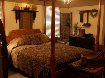 cheap primitive country bedroom decorating ideas | 17 Best images about Primitive/Colonial Bedrooms on ...