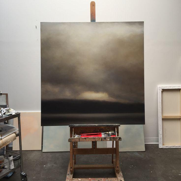 """On the easel. 48x48"""". Oil. Www.sharonkingston.com"""
