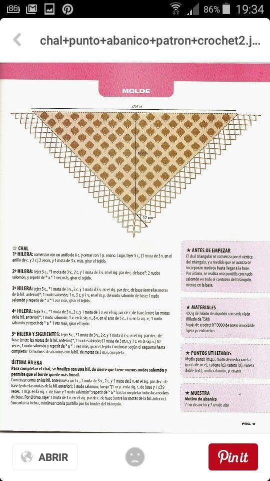 Vistoso Tejida Triángulo Patrones Chal Imágenes - Coser Ideas Para ...