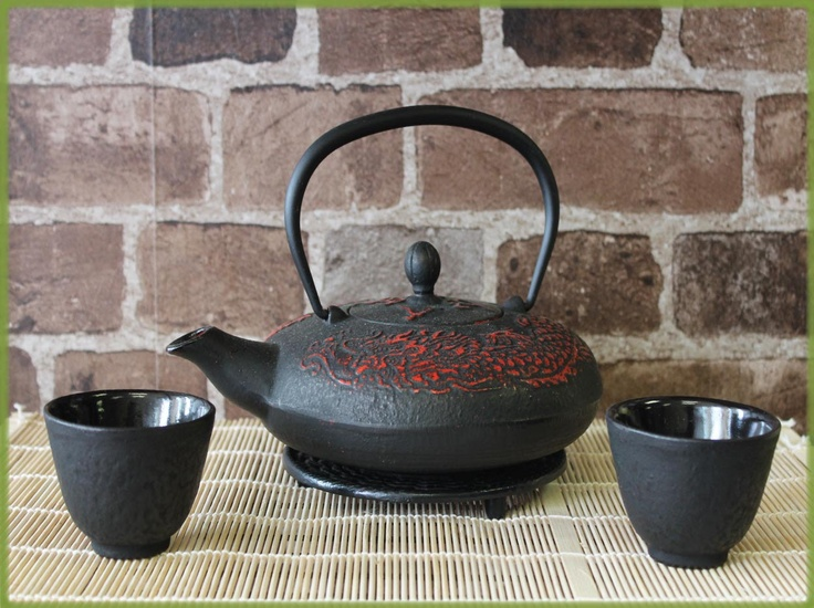 1000 images about teapot on pinterest black tea kettles and tea accessories - Cast iron teapot dragon ...