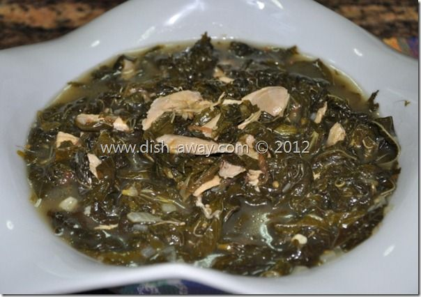 Molokhia (Jews Mallow) with Chicken Recipe - dish-away