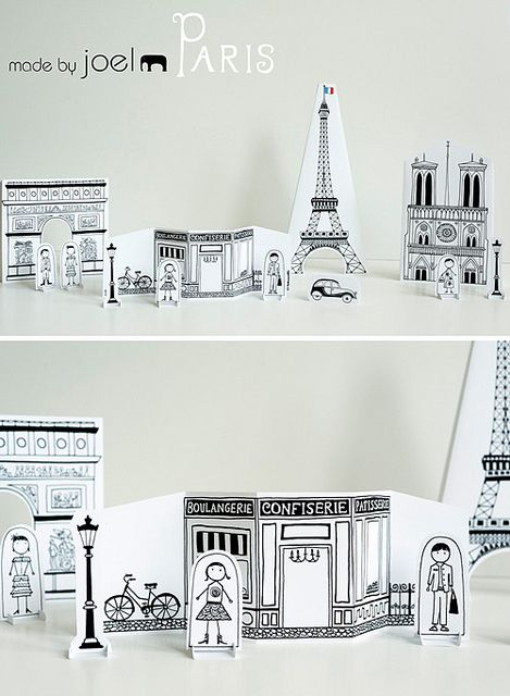 Free downloadable cityscape by Made by Joel #Paris Did the mini one. LOVE IT!