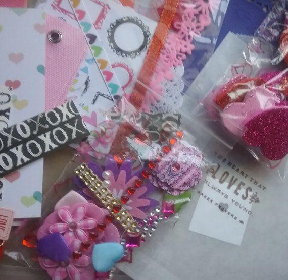 Valentine Paper Craft Kit Valentine Ephemera Scrapbooking