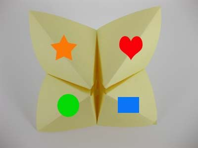 Origami is a fun and motivating activity for kids..especially a fortune teller; have students spell their choice (i.e. h-e-a-r-t) and on the inside have it academic based, math problems, answer questions about a book they are reading, etc.