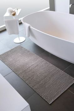 Küchenläufer Badteppich Läufer Silo dunkelgrau schwarz greige günstig preiswert billig Kollektion Aquanova