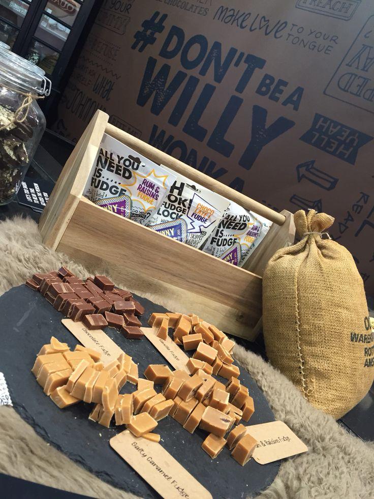 Johnny Doodle fudge #salty #chocolate #vanille #rum&raisins | Fudge ...