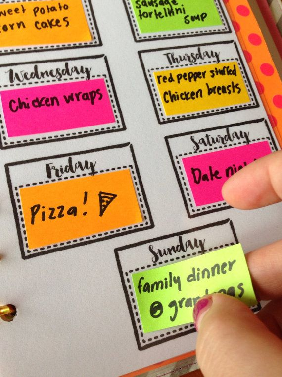 La planification fait facile! Planifiez vos dîners hebdomadaires avec cette insertion pour n'importe quel planificateur de taille! Cette insertion est laminée, donc il peut être écrit sur avec des marqueurs sharpie donc vos notes va durer toute la semaine! Il suffit d'utiliser l'alcool à friction pour essuyer un marqueur permanent lorsque vous êtes prêt pour une nouvelle planification. Vous pouvez également planifier avec la poste quil note! (Indiqué dans l'image 3). S'adapte dans…