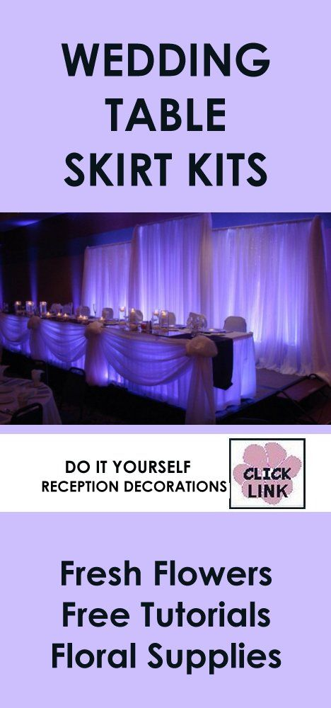 75 best wedding reception decorations images on pinterest wedding easy diy kits for decorating wedding receptions including skirting ceiling drapes wall coverings junglespirit Gallery