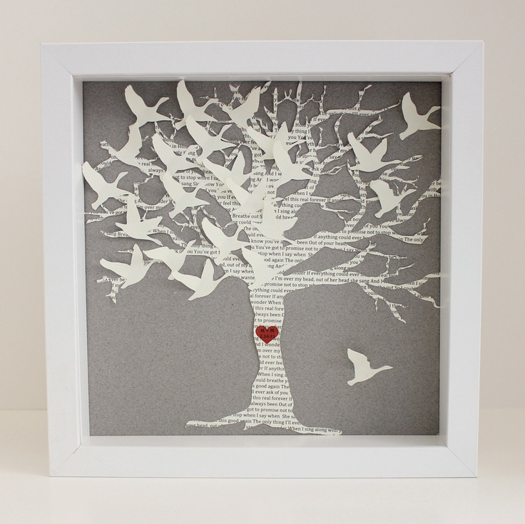 Tree / Wedding Gift for couple / Paper anniversary gift / Husband gift ...
