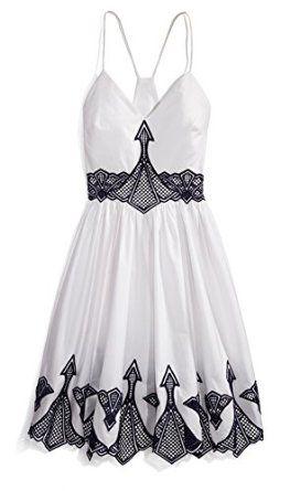 Women's Embroidered Poplin Dress