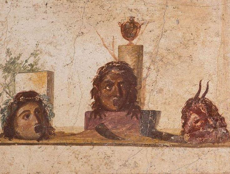Maschere teatrali, braccio del portico - Casa di Giulio Polibio / The House of Julius Polybius