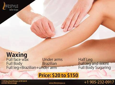 At Lifestyle Salon And Spa, We Offer A Range Of Waxing Methods Starting From $20 To $150.  For Appointment & More Queries :  Call: 905-232-0917 #HairFreeLife #PleasureComesAfterPain #Waxing #GoodByeHairs