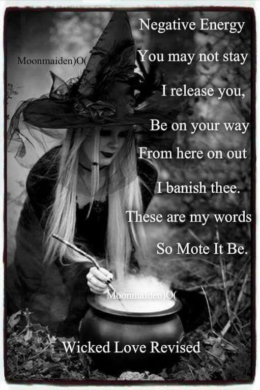 Negative energy banish wicca pagan cleansing
