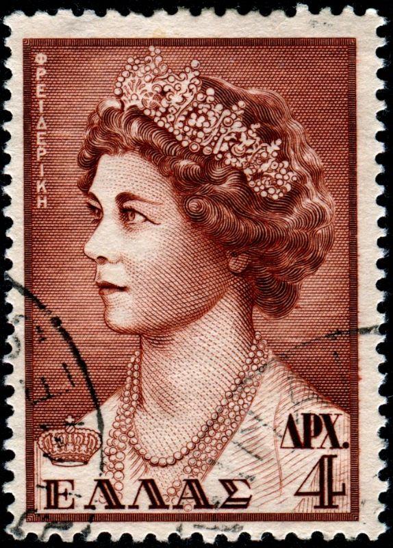Greece. Queen Frederica