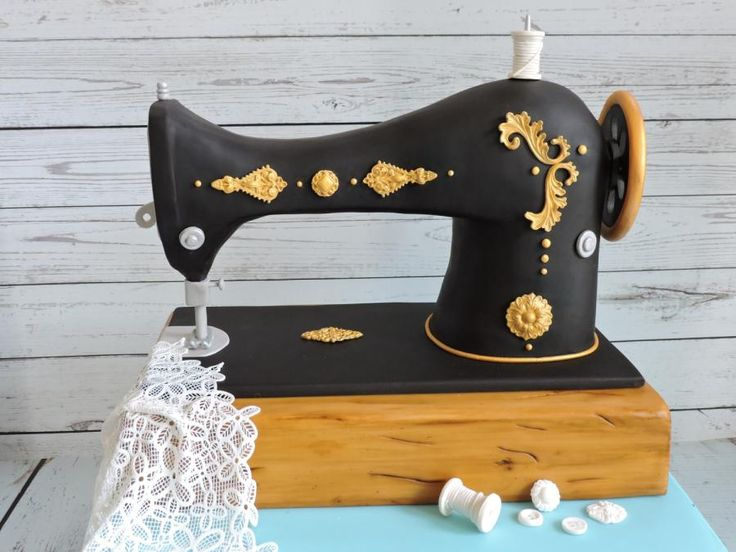 I'm so pleased to share with you a remake of a cake I did last month for my MIL's 90th birthday. I was unable to take photos at the time and I so love the look of the antique sewing machine that I decided to give it another go. The whole cake is...