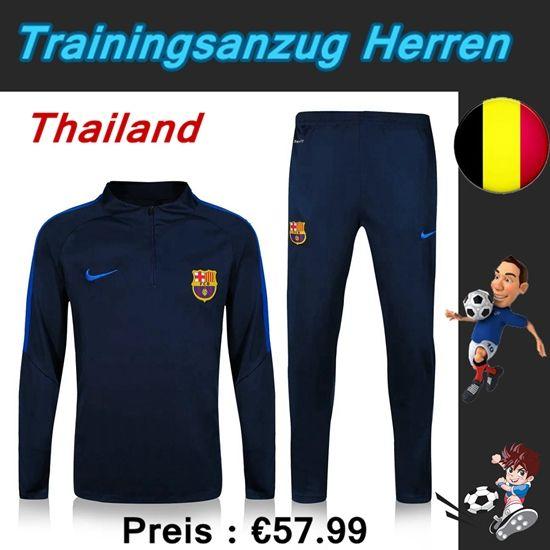 Offizielle Trainingsanzüge Fussball Herren Kits FC Barcelona Blau Marine Saison 2016 2017 Großhandel Deutschland