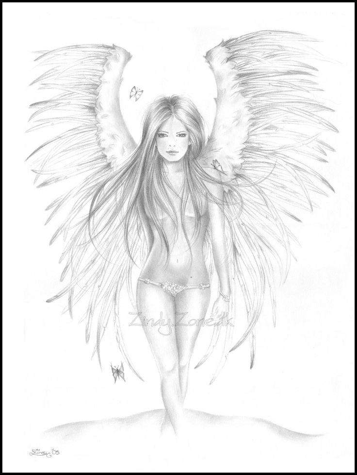 pencil drawings of angels - Google Search