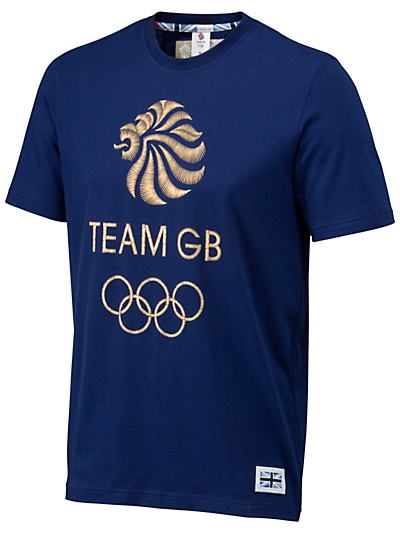 Buy Team GB Men's Lion T-Shirt, Navy online at JohnLewis.com - John Lewis, £24
