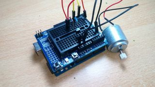 To drive a DC motor you need a larger amount of current than Arduino board can give. For that reason you must use a transistor. Transistors have limits and maximum...
