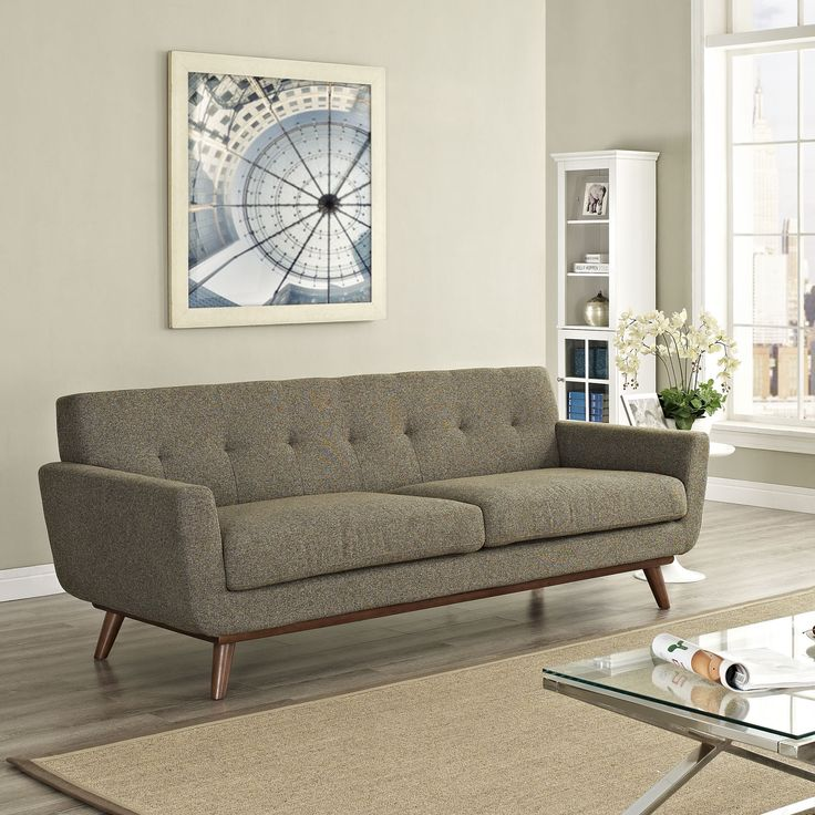 Emory Upholstered Sofa Oatmeal Tweed
