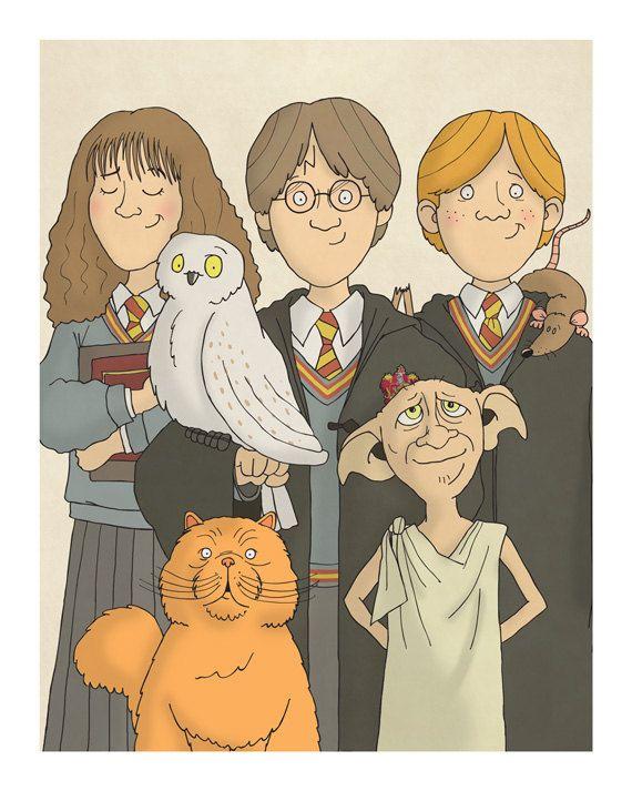 Potter frenchy party - Boutique : les personnages de Harry Potter vus par Carl Batterbee - harry potter illustrations on etsy