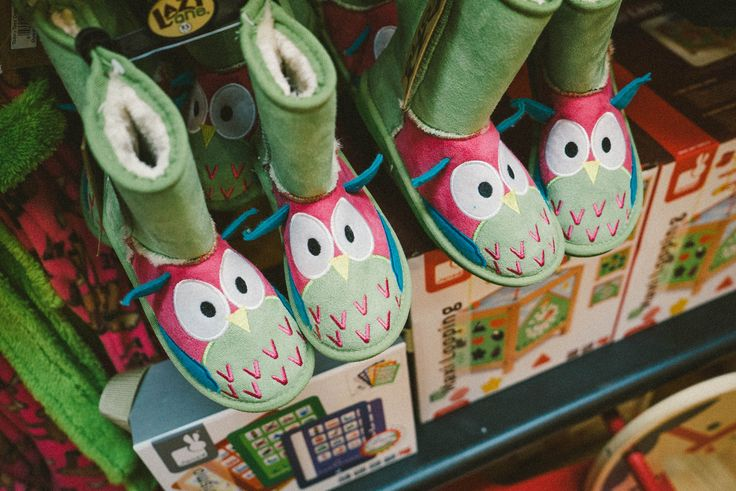 owl booties from LazyOne