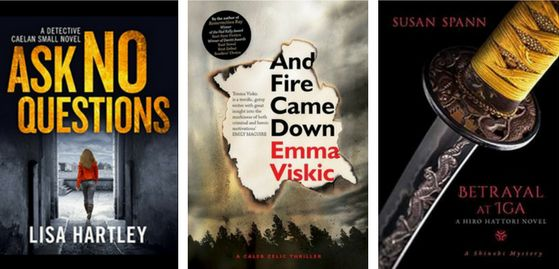Three new books from Lisa Hartley (Ask No Questions), Emma Viskic (And Fire Came Down) and Susan Spann (Betrayal at Iga) added to the reading pile.