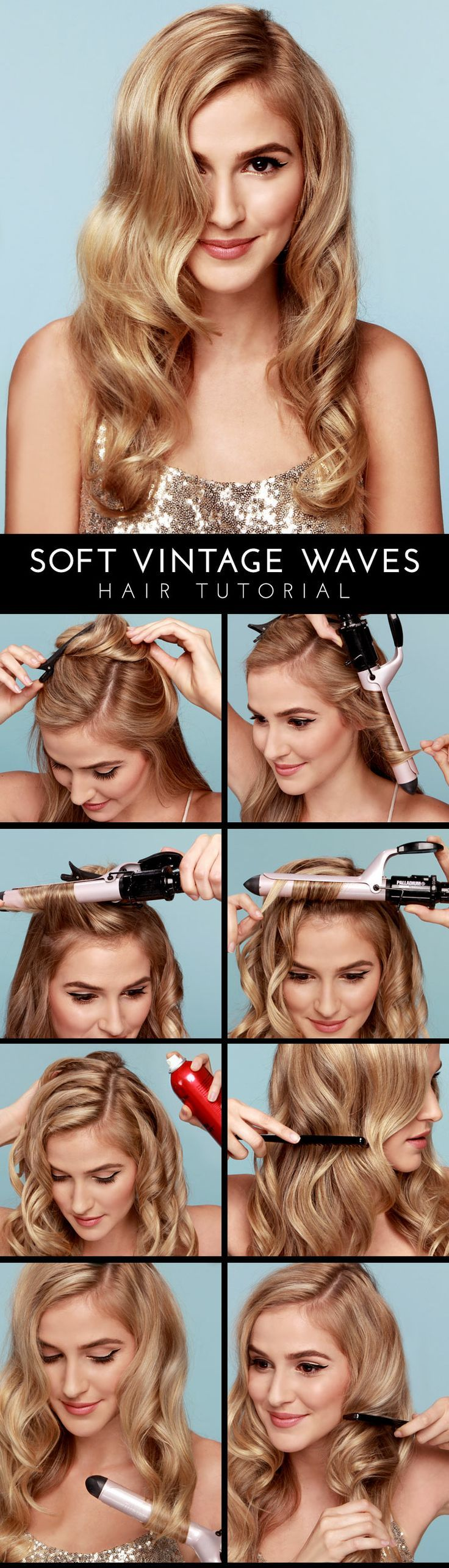 Soft vintage waves: A step-by-step run through! #hairstyle #vintage #beauty