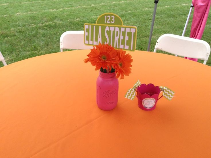 Project Nursery - Girl Elmo 2nd Birthday Party Adult Table