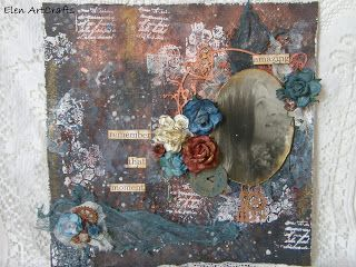 "Elen ArtCrafts: ""Remember that moment""...Mixed media layout!"