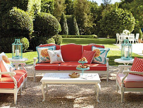 Frontgate Glen Isle White Collection   Outdoor Furniture Sets