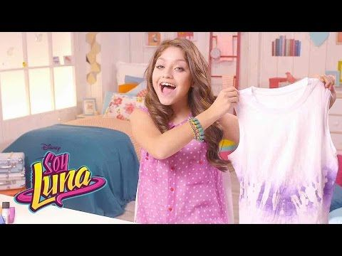 "Soy Luna DIY – Camiseta con técnica ""Tiedye"" - YouTube"