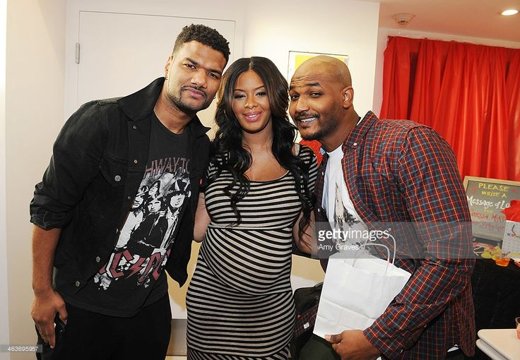 Damian Wayans, Vanessa Simmons and Mike Wayans attend Vanessa Simmons Baby Shower at Sugar Factory Hollywood on January 18, 2014 in Los Angeles, California.
