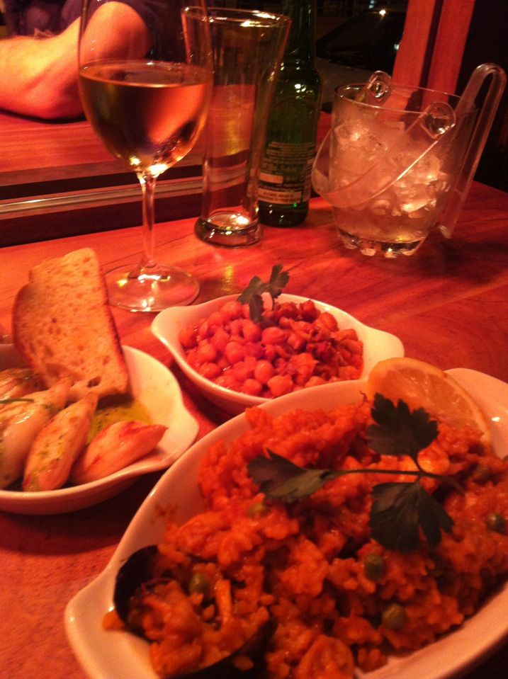 Tapas #FTW. Great sidewalk seating. And rumour has it they're opening a disco club in the basement - eee!