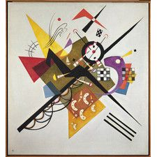 On White II, 1923 by Wassily Kandinsky Framed Painting Print