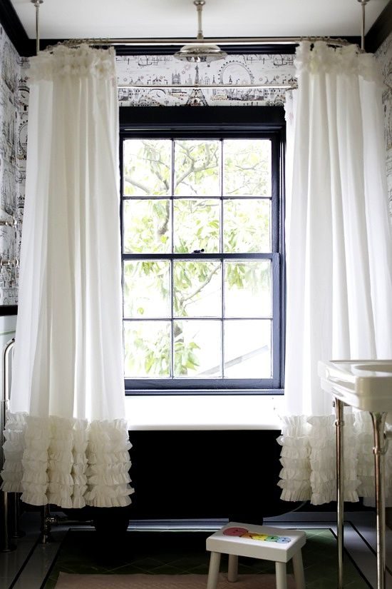 Romantic Ruffled Shower Curtain