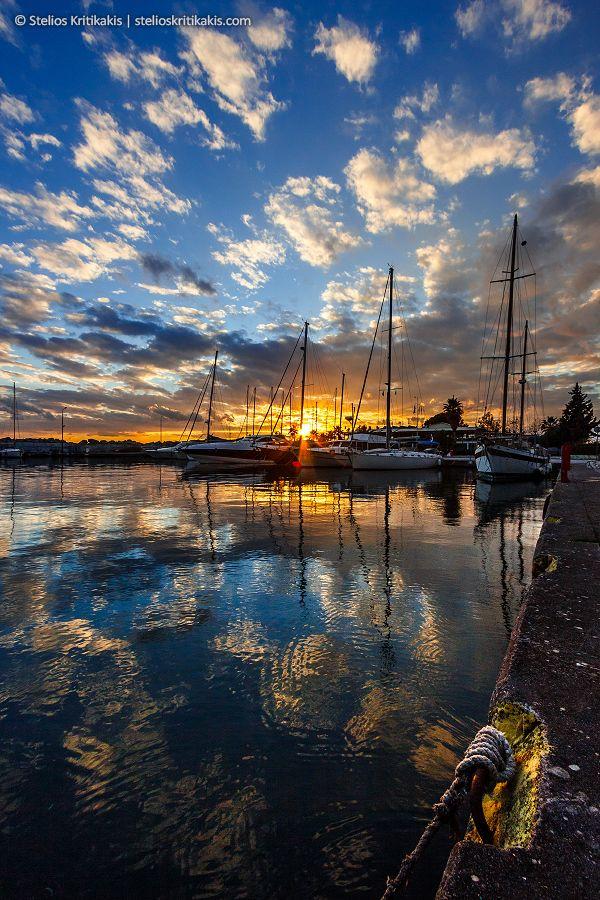 blue, boat, clouds, dark, gold, greece, harbor, its_me, kalamata, marina, port, sea, sun, sunset, water
